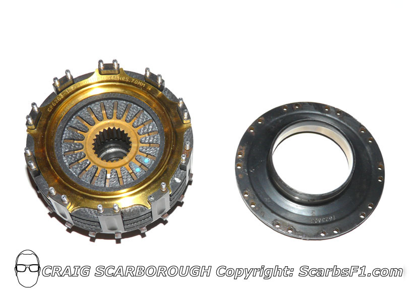 Clutch with closing plate removed