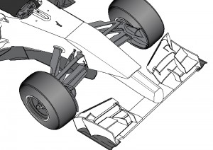 A vanity panel bonded to the nose cone will cover the step